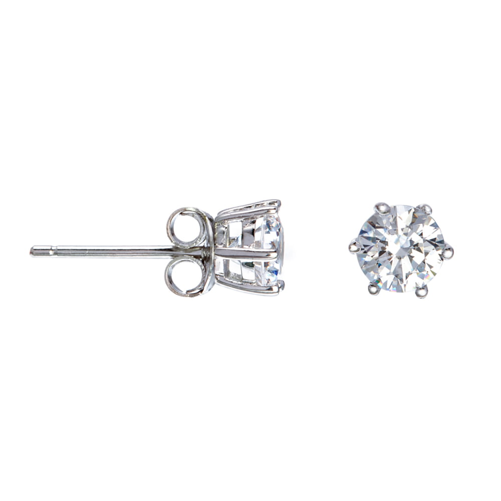 0039bb58a 6 Prong Solitaire Stud Earrings Made With Swarovski Zirconia ...
